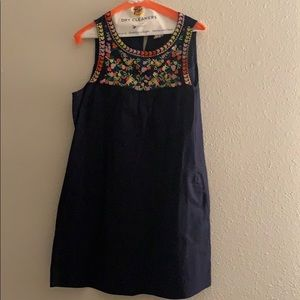 J. Crew Floral Embroidered Dress